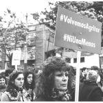 Pancarta feminista en una manifestación