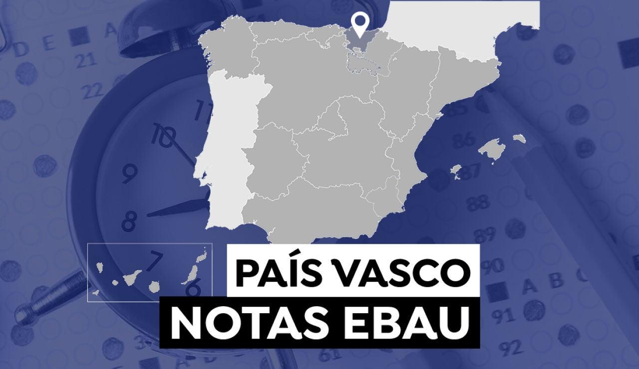 Notas Evau País Vasco 2021: Resultado de selectividad