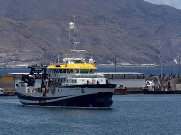 El buque del Instituto Español de Oceanografía