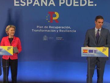 Comparecencia de Pedro Sánchez y Ursula von der Leyen sobre el plan de recuperación, vídeo íntegro