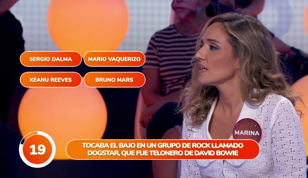 Bruno Mars empaña la gran jugada en solitario de Marina Monzón en 'Una de Cuatro'