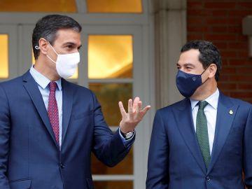 Pedro Sánchez y Juanma Moreno