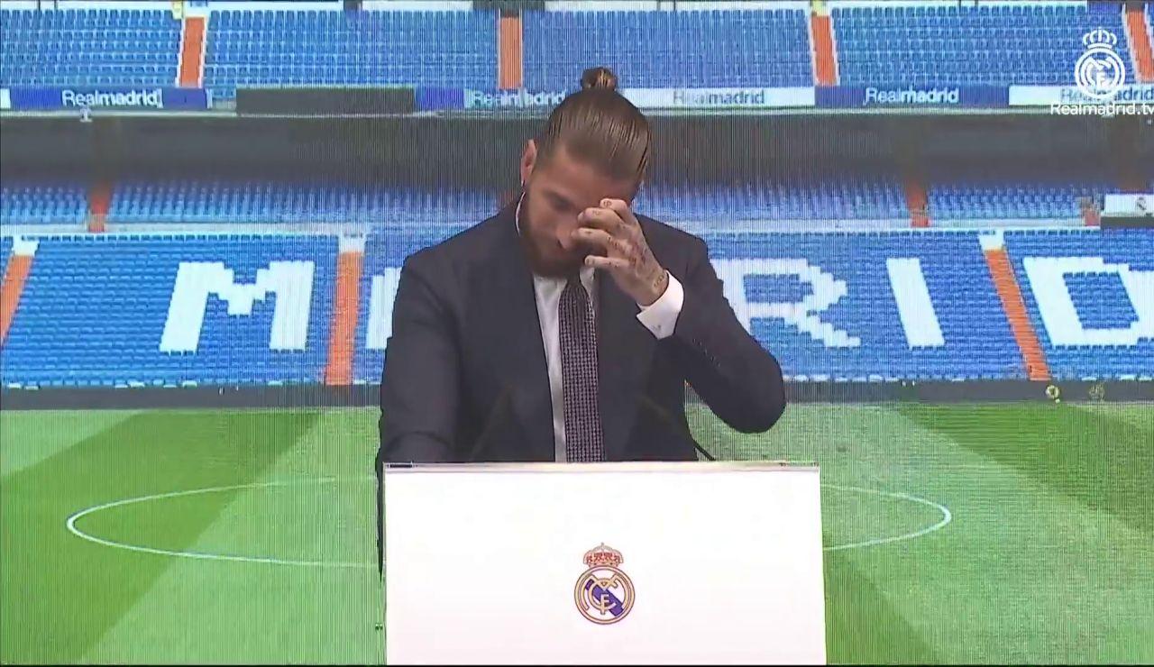"""Sergio Ramos dice adiós al Real Madrid entre lágrimas: """"Me hubiera gustado despedirme enn el Bernabéu"""""""