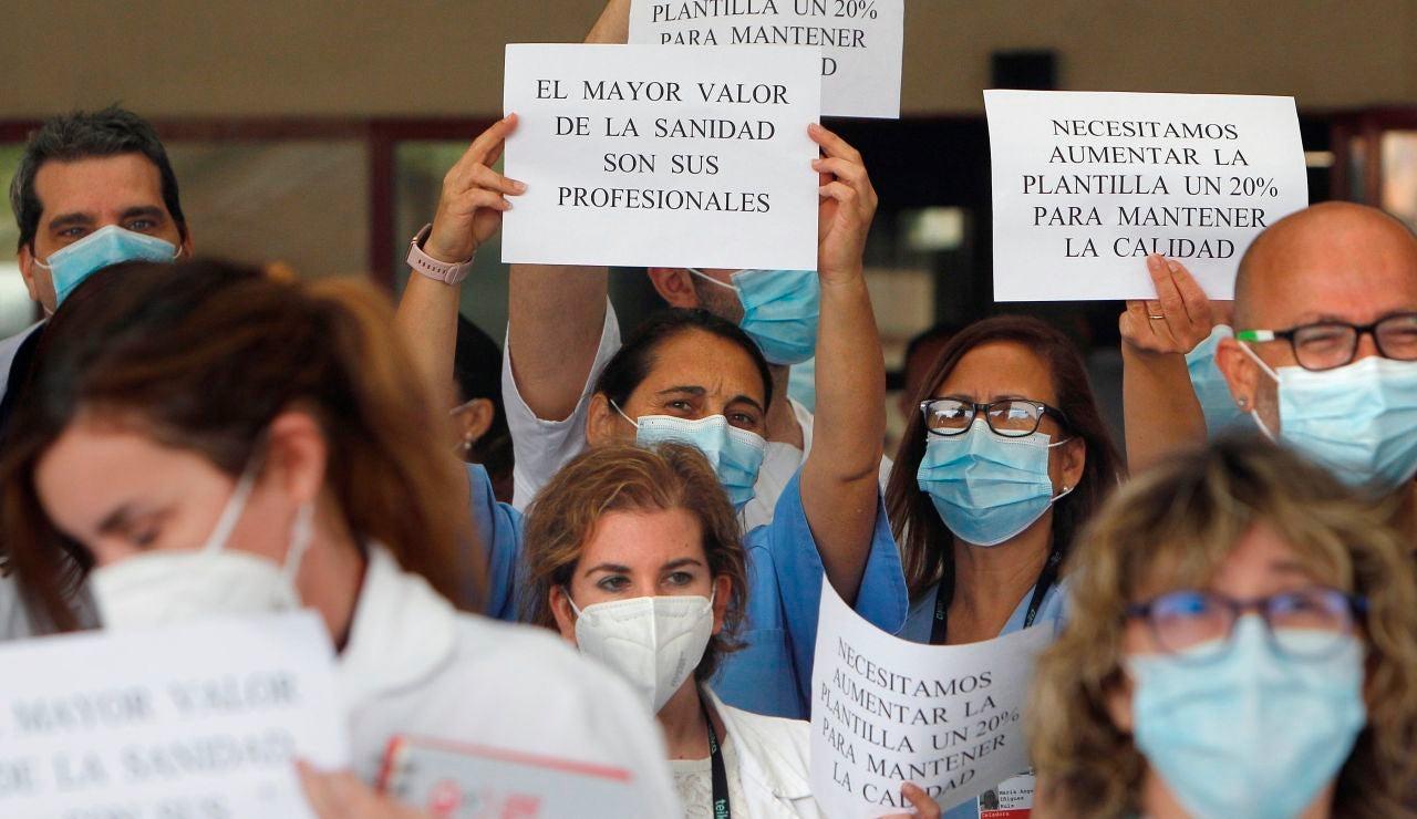 Protesta de sanitarios