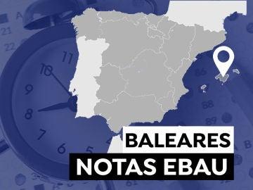 Notas de la PBAU en Baleares 2021: Consultar los resultados de la selectividad