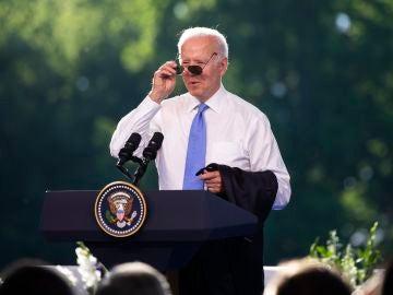 El presidente estadounidense Joe Biden tras su encuentro con Vladimir Putin