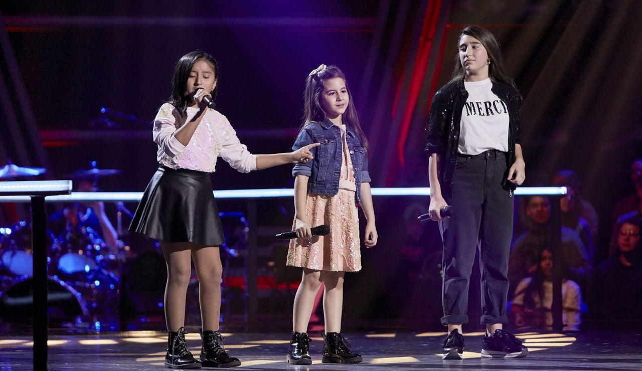 Samantha, Nazaret y Lola cantan 'Arráncame' en las Batallas de 'La Voz Kids'