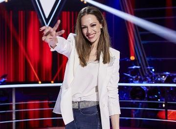 Eva González en las Batallas de 'La Voz Kids'