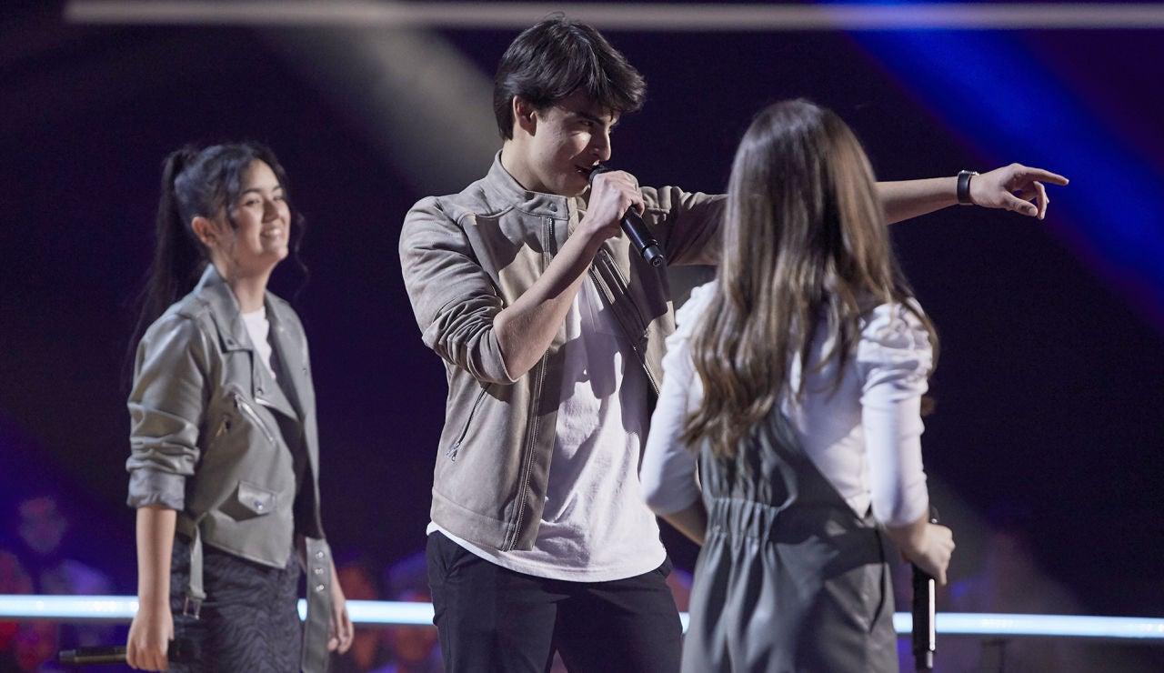 Alejandro, María y Sonia cantan 'Somethin' stupid' en las Batallas de 'La Voz Kids'