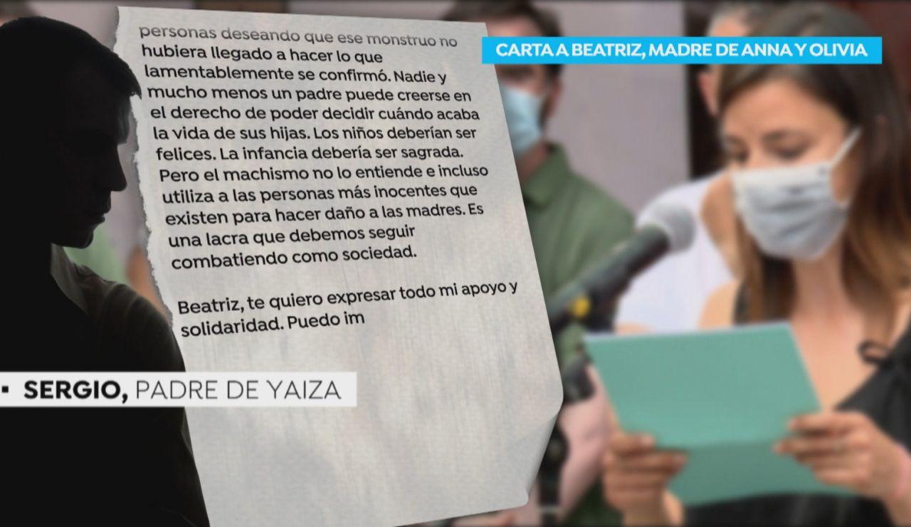 Carta del padre de Yaiza a Beatriz, la madre de Anna y Olivia