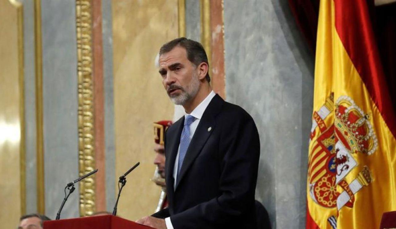 Felipe VI inicia su estancia en Baleares con una recepción a las autoridades locales