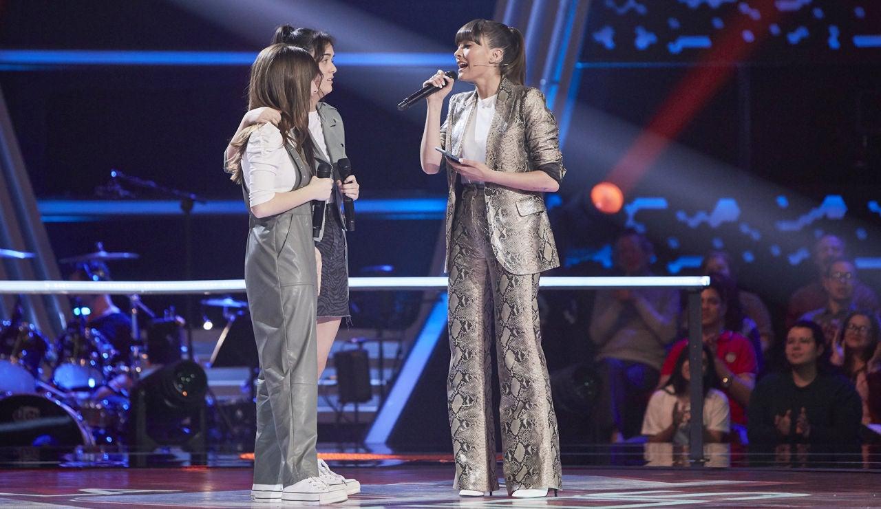 Aitana canta 'Con la miel en los labios' con María y Sonia en las Batallas de 'La Voz Kids'