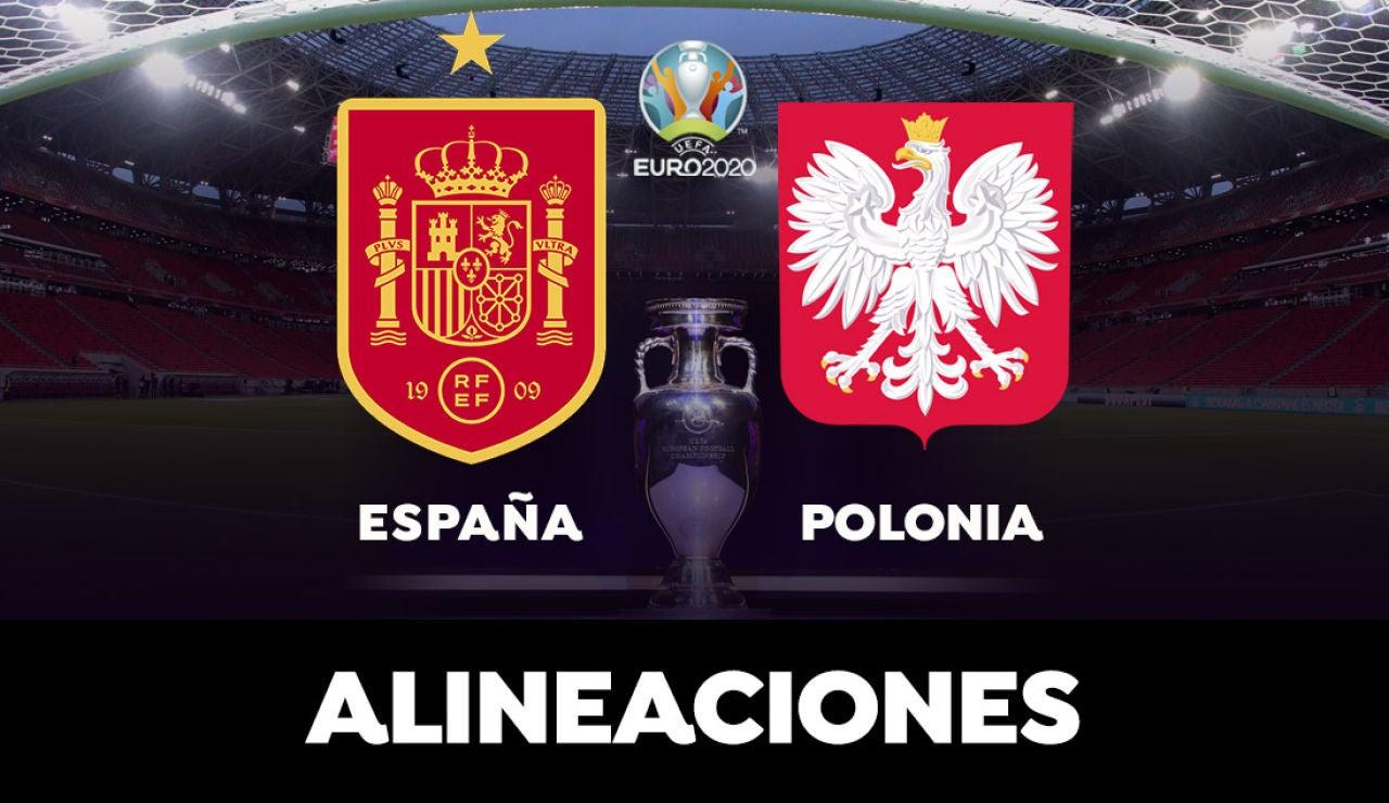 Alineación de España contra Polonia en el partido de hoy de la Eurocopa 2021