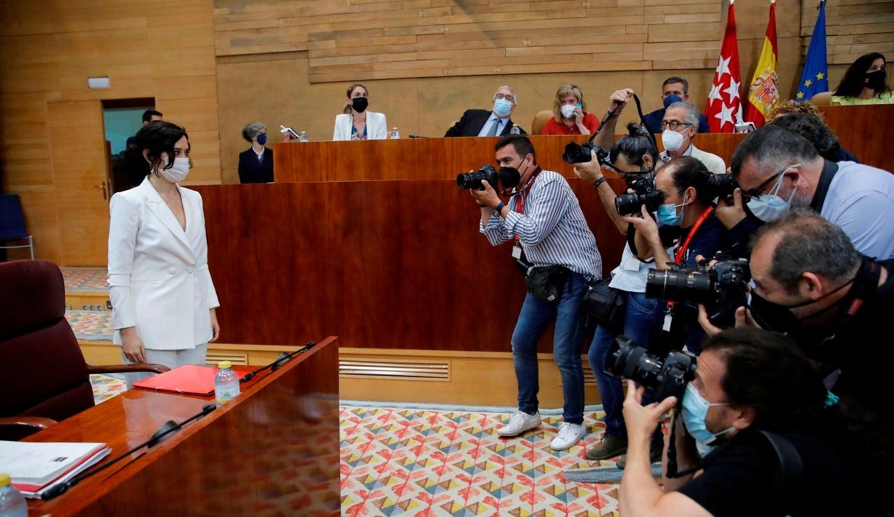 La presidenta en funciones y candidata a la Presidencia de la Comunidad de Madrid, Isabel Díaz Ayuso