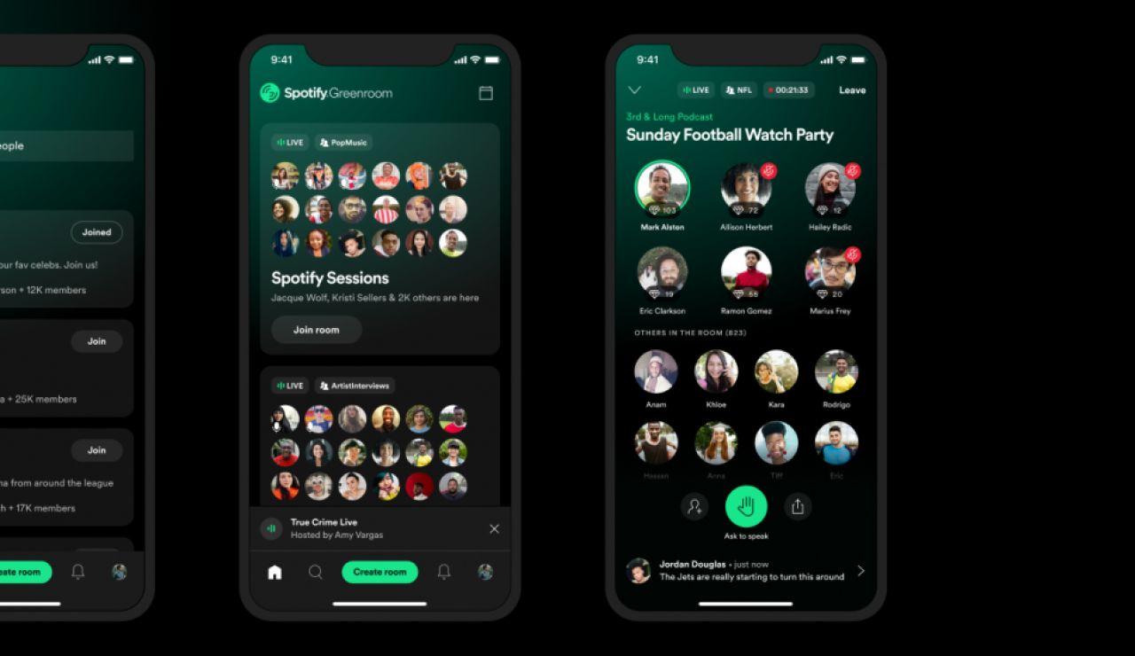 Nueva competencia para Clubhouse: Spotify apuesta por los podcast y crea la app Greenroom