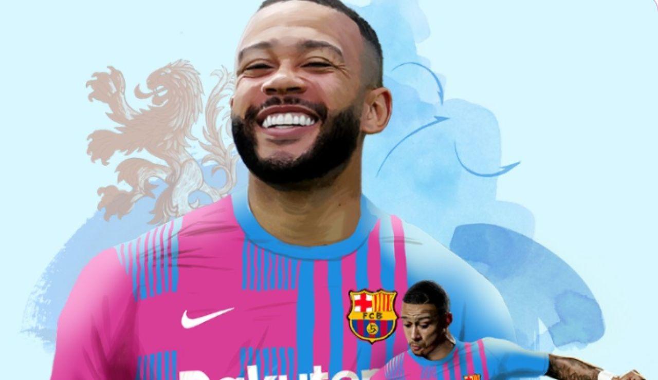 OFICIAL: Memphis Depay ficha por el Barcelona hasta la temporada 2022-2023