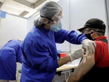 Imagen de un centro de vacunación