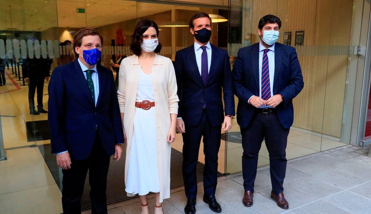 Isabel Díaz Ayuso junto a Pablo Casado