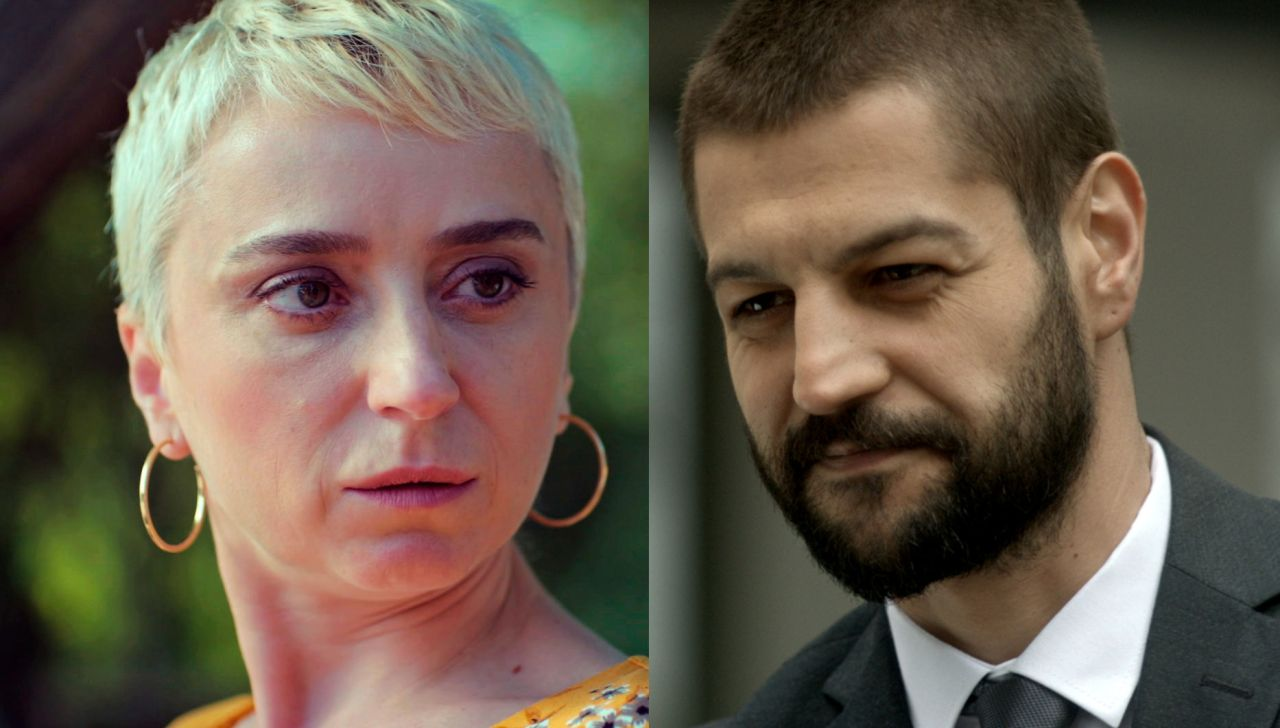 Los actores Serhat Teoman y Elif Verit