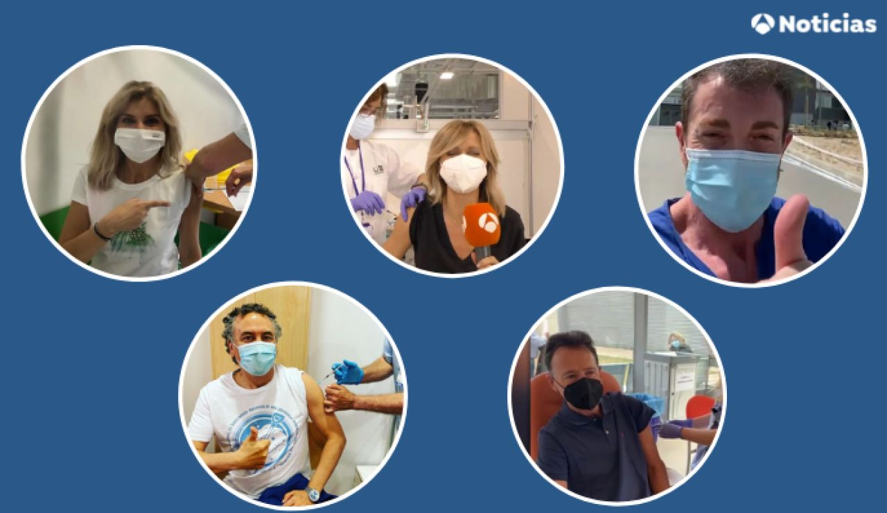 Así animan a vacunarse contra el coronavirus los presentadores de Antena 3 que ya han sido vacunados