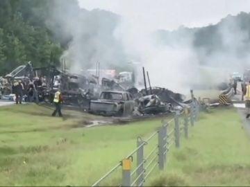 Aparatoso accidente en Alabama