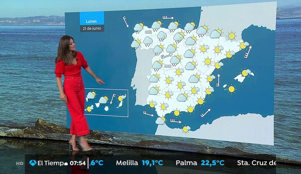 La previsión del tiempo hoy: Lluvias en Galicia y Cantábrico con descenso de temperaturas