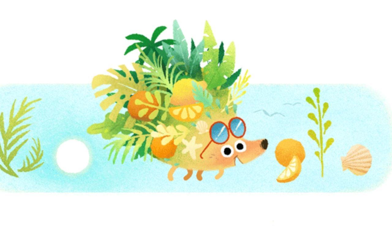 Google celebra la llegada del verano con el doodle de un erizo muy animado