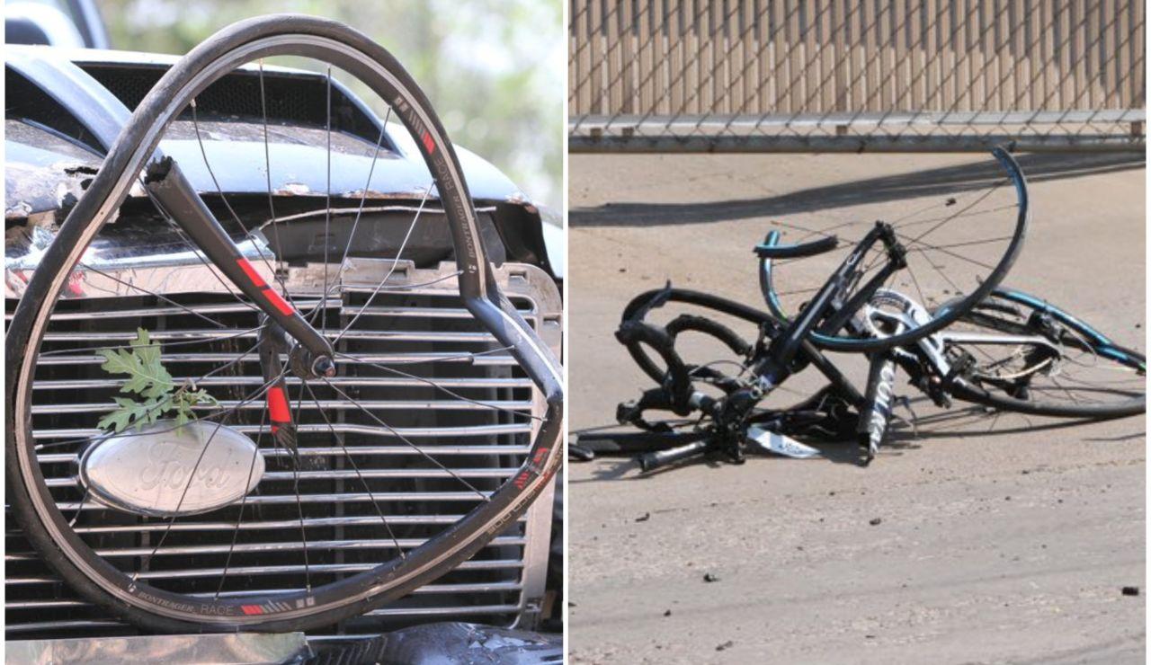 Un conductor en estado crítico tras arrollar a un pelotón de ciclistas y ser tiroteado por la Policía