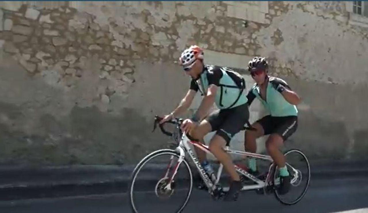Jaime Lafita recorre casi 1.000 km para luchar contra la ELA