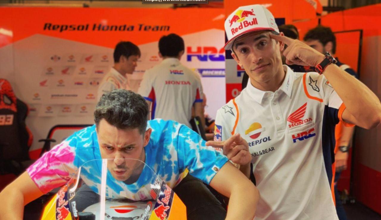 Grefg y Márquez en un acto promocional