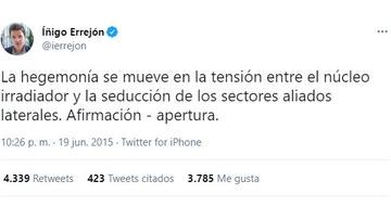 Tuit de @ierrejon