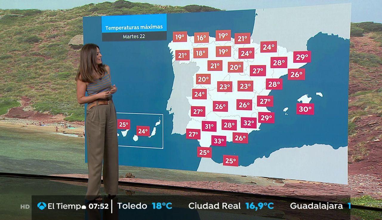 La previsión del tiempo hoy: Precipitaciones intensas en el área cantábrica