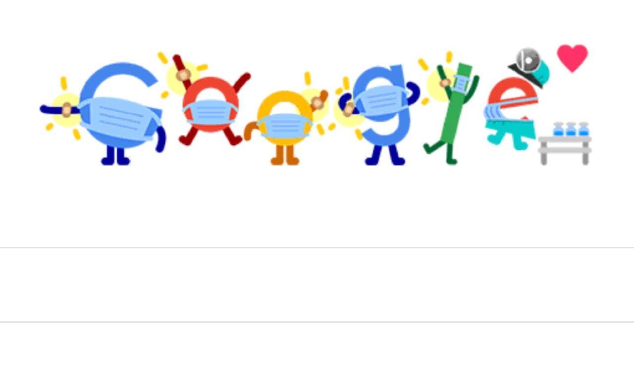 Google dedica su doodle a la vacunación del COVID y la medidas preventivas como la mascarilla