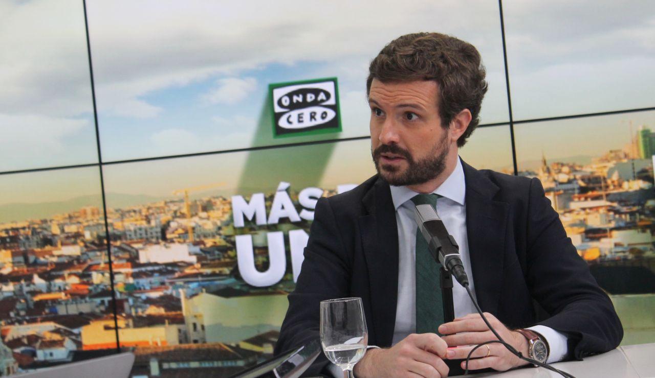 Pablo Casado, líder del PP, en Más de Uno