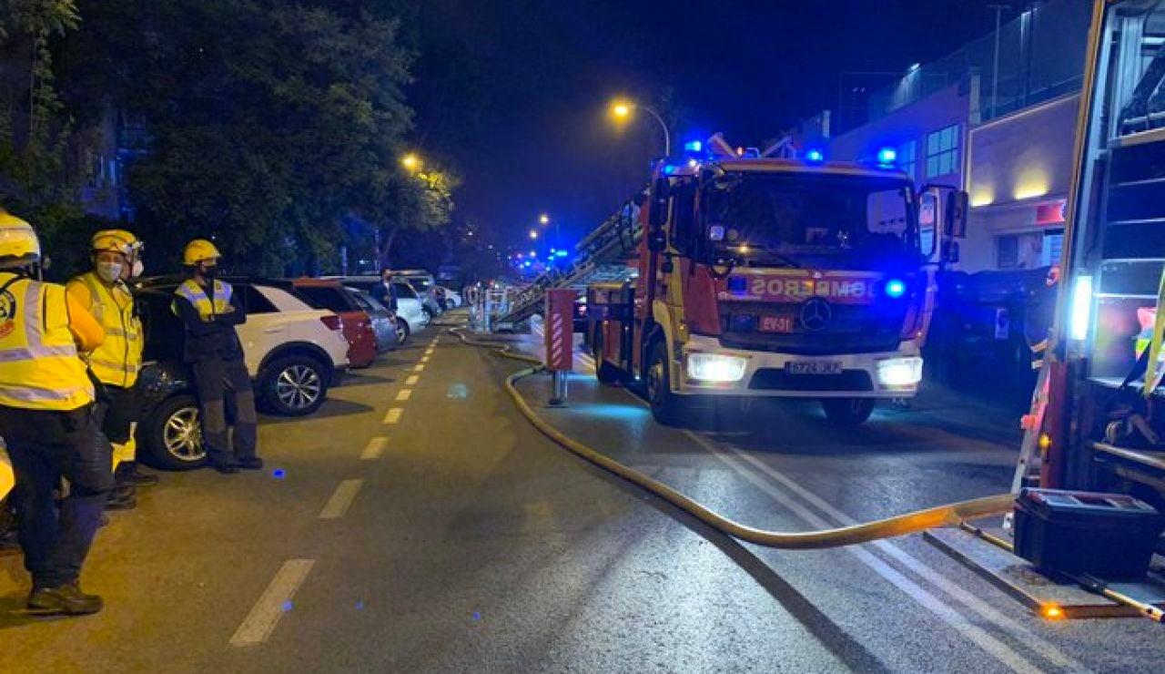 Incendio en un centro comercial en Madrid