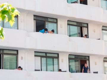 Los jóvenes aislados en un hotel de Palma de Mallorca