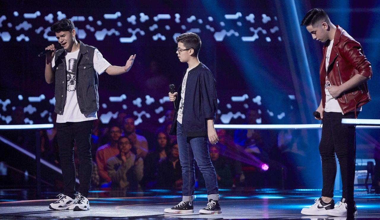 Samuel, Marcos y Manuel cantan 'Desencuentro' en las Batallas de 'La Voz Kids'