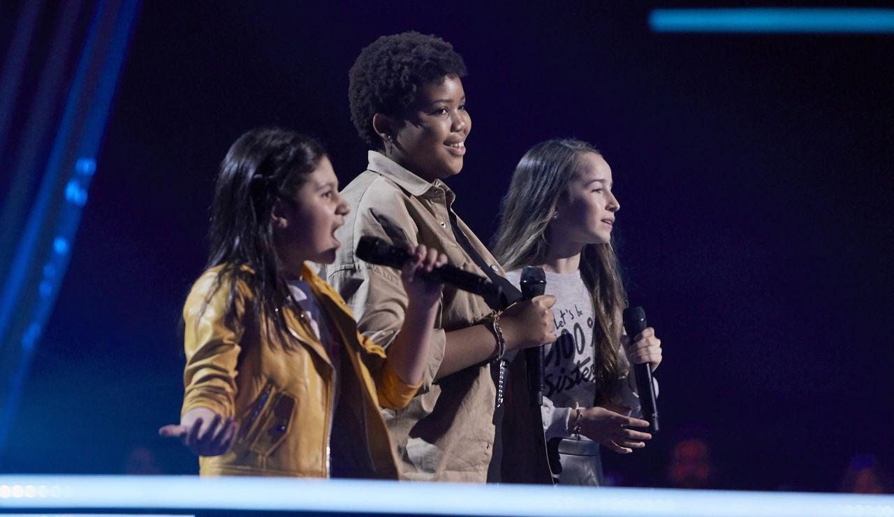 Alina, Blanca e Inés cantan 'Someone like you' en las Batallas de 'La Voz Kids'
