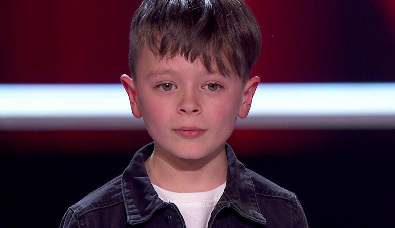 La divertida reacción de Jesús del Río al acabar su actuación en 'La Voz Kids'
