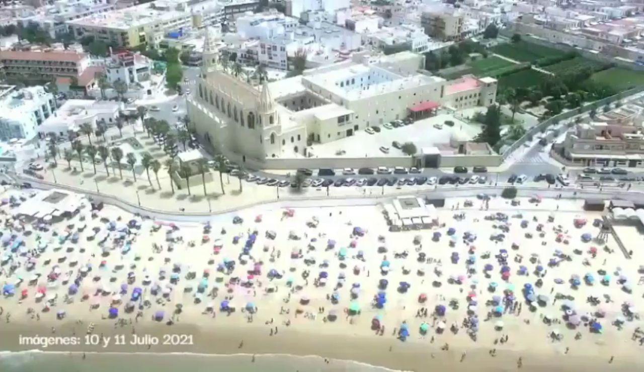 Chipiona parcela sus playas como medida de prevención del coronavirus