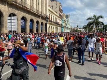 Manifestaciones contra el Gobierno en La Habana, en Cuba