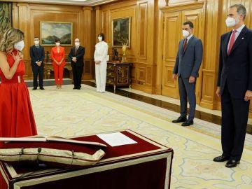Yolanda Díaz no descarta en absoluto cambios en la parte de Podemos en el Gobierno