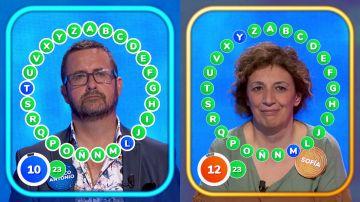¡Tensión en 'El Rosco'! Sofía y Marco Antonio, empatados a falta de diez segundos