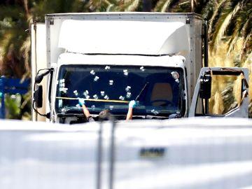 El camión con el que se cometieron los atentados
