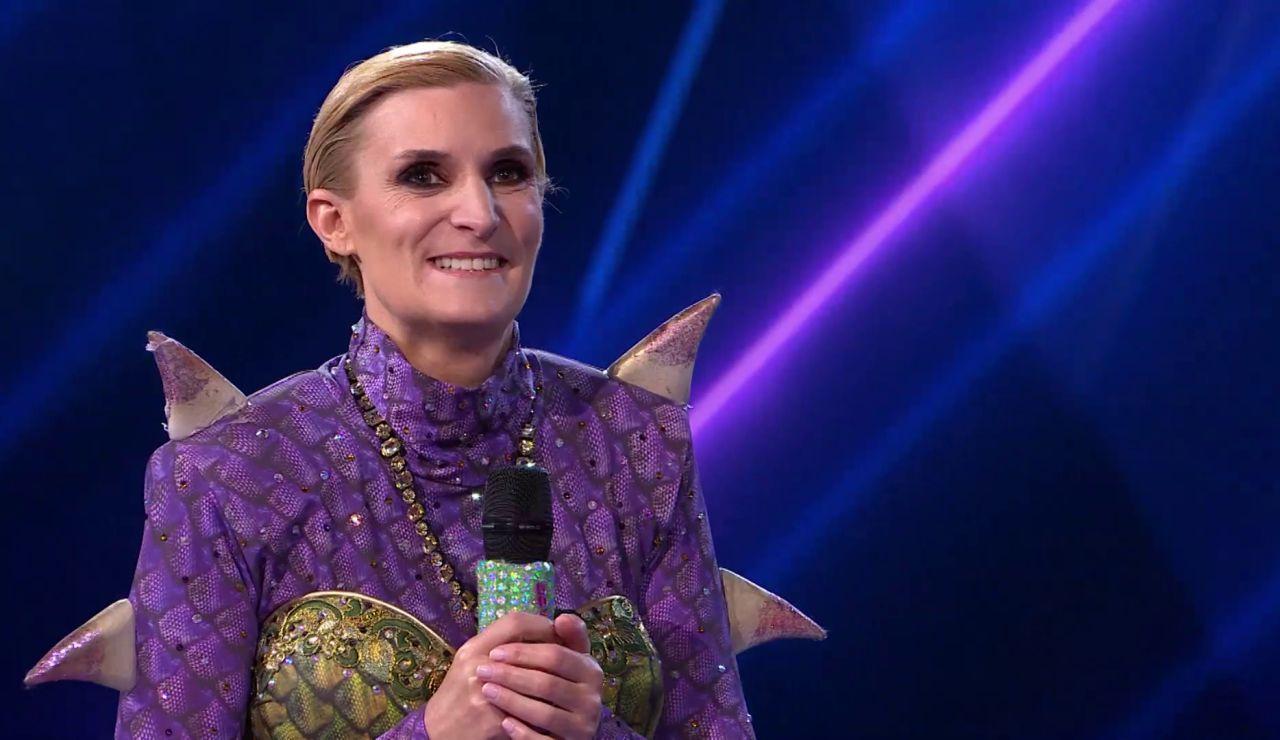 María Zurita era la ardiente Dragona: ¡la realeza llega a 'Mask Singer'!