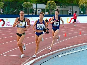 La atleta Irene Sánchez Escribano durante los pasados Campeonatos de España de Atletismo