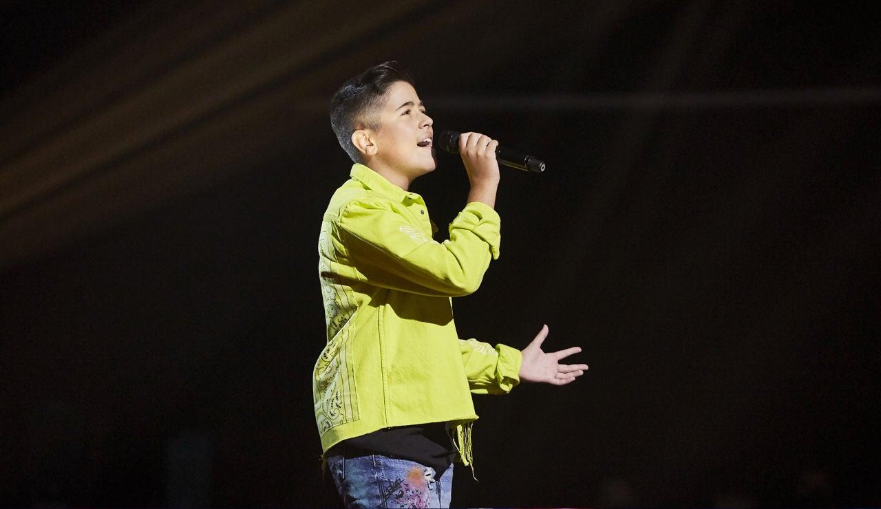 Lukas Urdea canta 'Mi buen amor' en la Semifinal de 'La Voz Kids'
