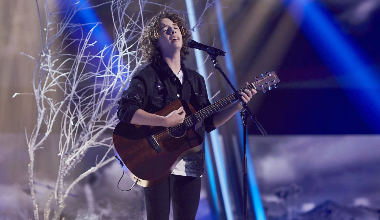 David Cabot canta 'With or without you' en la Semifinal de 'La Voz Kids'