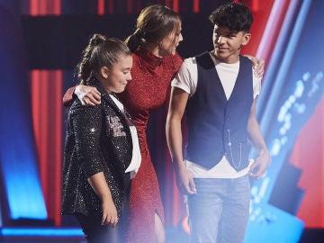 Manuel Ayra y Rocío Avilés, finalistas del equipo de David Bisbal en 'La Voz Kids'