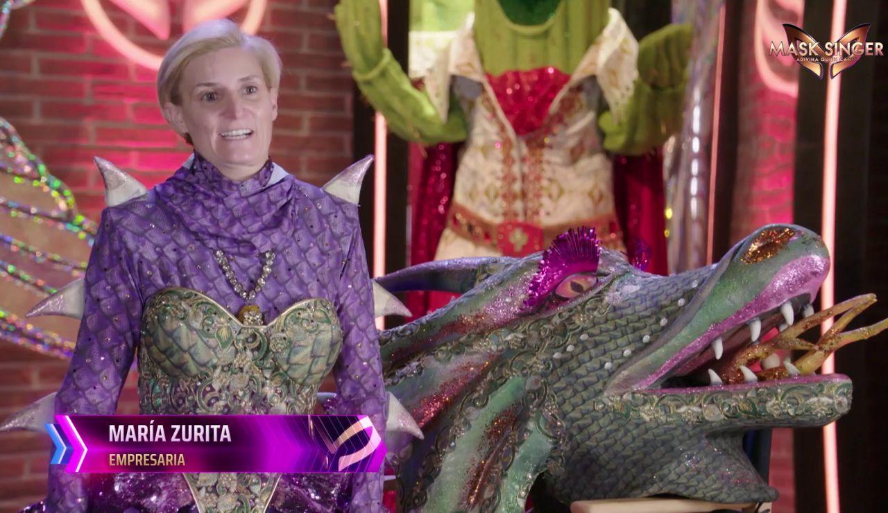 """María Zurita, tras quitarse la máscara de Dragona: """"Es imposible guardar un secreto en casa"""""""